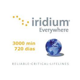 Recarga 3000 minutos - Válido por 720 dias Iridium