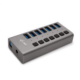 i-tec U3CHARGEHUB7 carregador de dispositivos móveis interior Cinzento