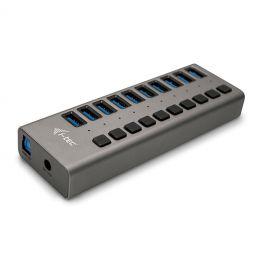 i-tec U3CHARGEHUB10 carregador de dispositivos móveis interior Cinzento