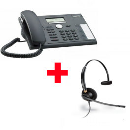 Aastra 5370 com auricular Plantronics Encore Pro HW510