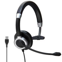 Auricular Mono USB para PC com Anulação ativa de ruído