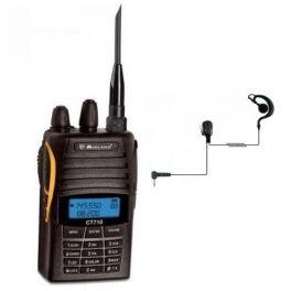 Midland CT 710 Dual Band VHF-UHF + Auricular gancho