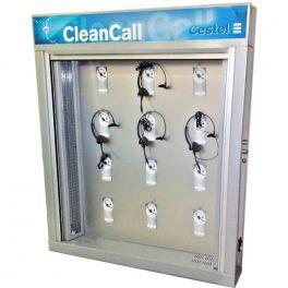 Armário de higienização para 12 auriculares