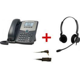 Cisco SPA 502G + Jabra BIZ 2300 Duo + Cabo