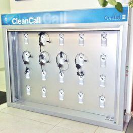 Armário de higienização para auriculares