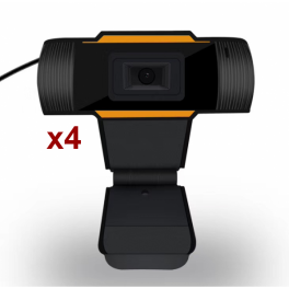 Pack 4x Webcam USB para PC