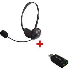 Pack: Auricular Stereo com adaptador USB
