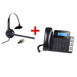 Grandstream GXP1630 + auricular Freemate DH037U-GY