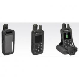 Bolsa de proteção de couro suave para Motorola SL4000