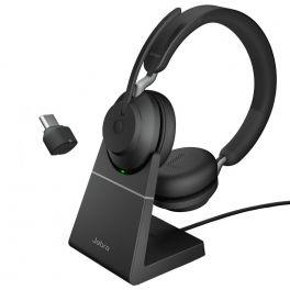 Jabra Evolve2 65 USB-C UC Stereo com suporte de carga