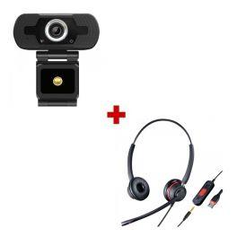 Webcam USB HD Desktop + Duo Headset mit USB/Jack