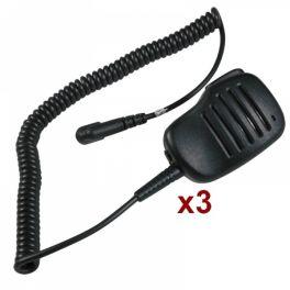 Pack 3x Kits Microfones para Motorola T 5/6/7/8/XTR