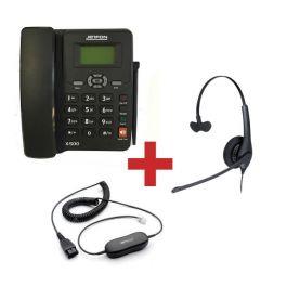 Jetfon X-500 + Auricular Jabra BIZ 1500 + Cabo de conexão