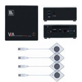 Kramer VIA Connect Pro + 4 Botões Kramer VIA Pad