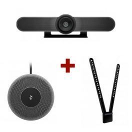 Logitech MeetUp Webcam + Microfone de expansão + Montagem TV