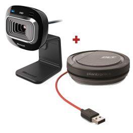 Pack de Microsoft Lifecam com Plantronics Calisto 3200