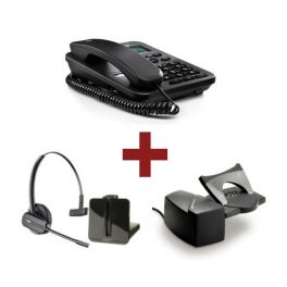 Motorola CT202 Preto + Auricular Plantronics CS540 + Atendedor