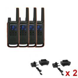 Motorola Pack Quarteto T82 + 4 bases de carga