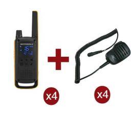 Pack Motorola TLKR T82 Extreme Quad + 4 microfones HP