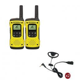 Pack de 2 Motorola T92 + 2 Kits contorno de orelha