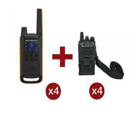Motorola Talkabout T82 Extreme Quarteto + 4 bolsas de proteção