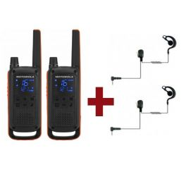 Motorola Talkabout T82 + 2 Kit Bodyguard
