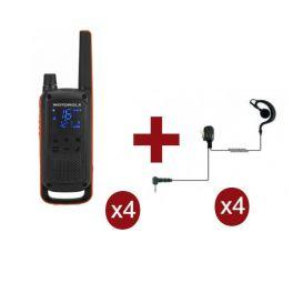 Motorola Talkabout T82 Quarteto + 4 Kits Bodyguard