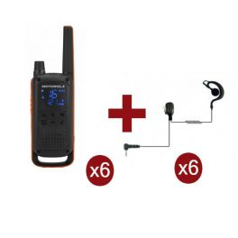 Motorola Talkabout T82 Sexteto + 6 Kits Bodyguard