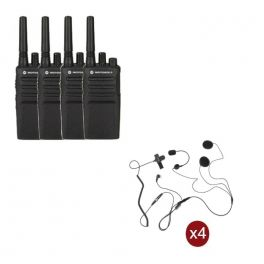 Pack de 4 Motorola XT420 + 4 auriculares para capacete