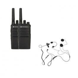 Pack de 2 Motorola XT420 + 2 auriculares para capacete