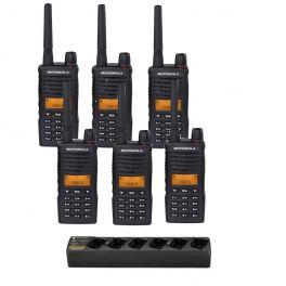 Motorola XT660D - Pack de 6 walkie talkies com carregador
