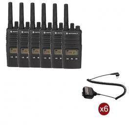Pack de 6 Motorola XT460 + Microfones de altavoz remotos