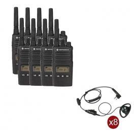 Pack de 8 Motorola XT460 + 8 Kits mãos livres contorno de orelha