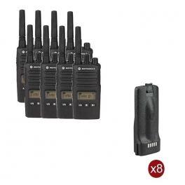 Pack de 8 Motorola XT460 + 8 baterias de substituição
