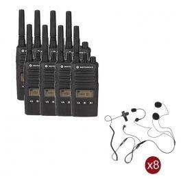 Pack de 8 Motorola XT460 + 8 auriculares para capacete