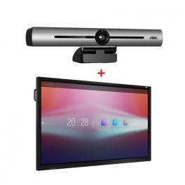 """MultiClass 65"""" tátil com Barra de videoconferências"""