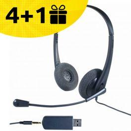 Por cada 4 auriculares Cleyver HC35 comprados, 1 de oferta
