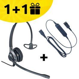 Por cada pack: auricular HC40 + cabo comprado, um pack de oferta