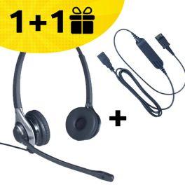 Por cada pack auricular HC45 + cabo comprado, um pack de oferta