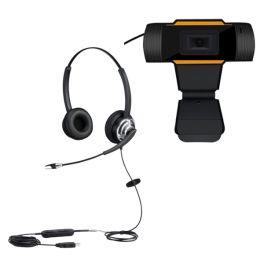 Cleyver HC65F PC Headset + webcam USB