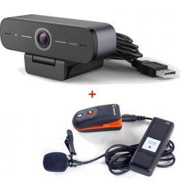 Webcam USB HD com microfone sem fios Speechi