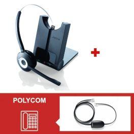 Para telefones Polycom: Jabra Pro 920 + atendedor
