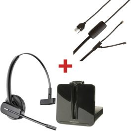 Plantronics CS540 + atendedor para telefone Polycom SoundPoint IP