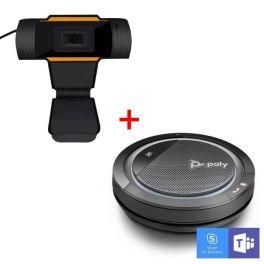 Poly Calisto 5300 USB-A com Webcam USB para PC
