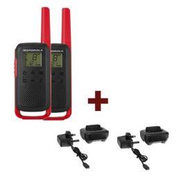 Pack Motorola T62 Vermelho + 2 bases de carga