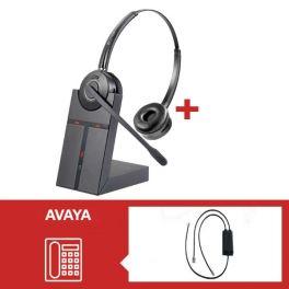 Pack de auriculares Cleyver HW25 para Avaya