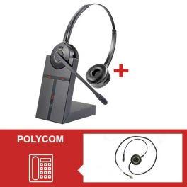 Pack auricular Cleyver HW25 para Polycom