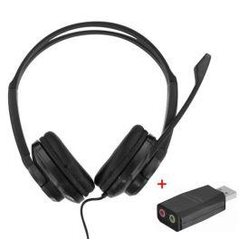 T'nB HS-200 Auricular Duplo Jack com adaptador USB