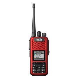 Capa Frontal com ecrã e 16 teclas para TAIT TP3300 - Vermelho