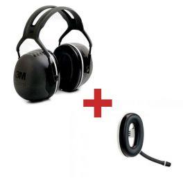 3M Peltor X5A + Micro-auricular Bluetooth